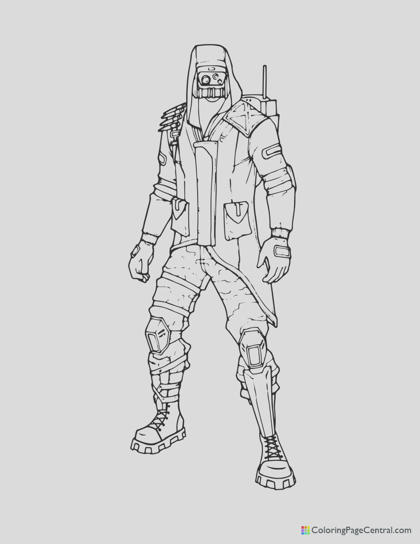 fortnite archetype coloring page