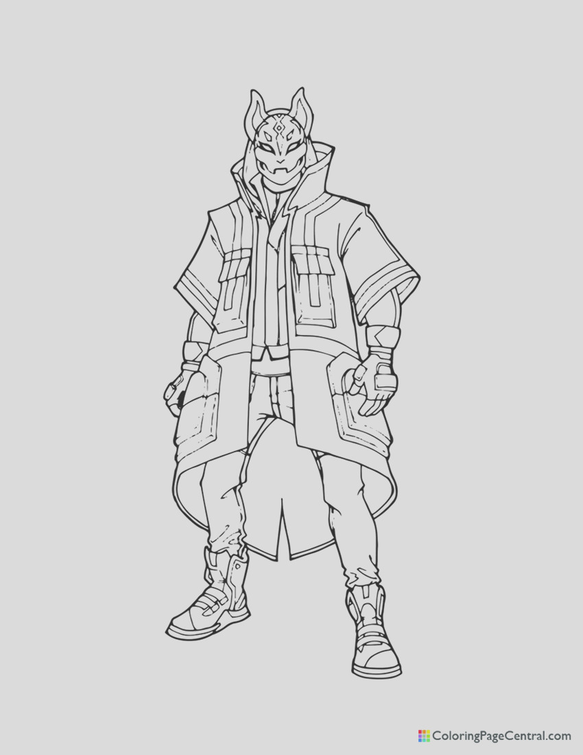 fortnite drift 01 coloring page