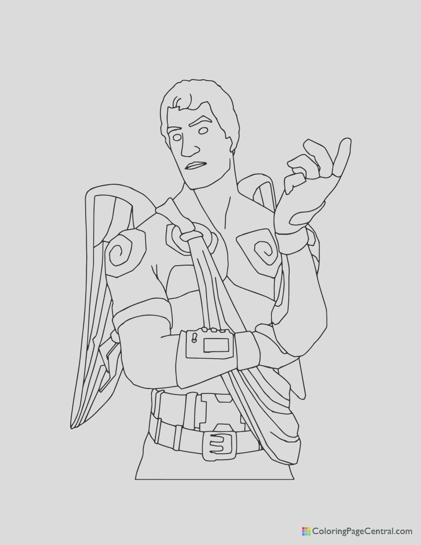 fortnite love ranger coloring page