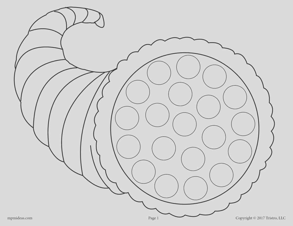 free thanksgiving do a dot printables and dot painting coloring pages a7866