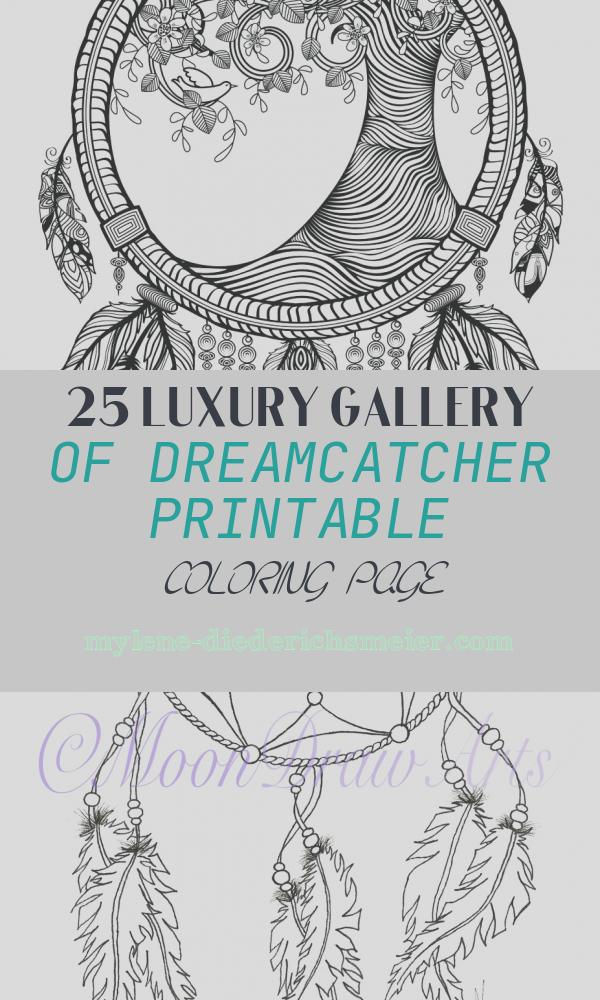 Dreamcatcher Printable Coloring Page Beautiful Tree Dreamcatcher Coloring Page