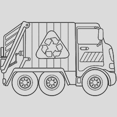 dump truck coloring pages for your toddlers
