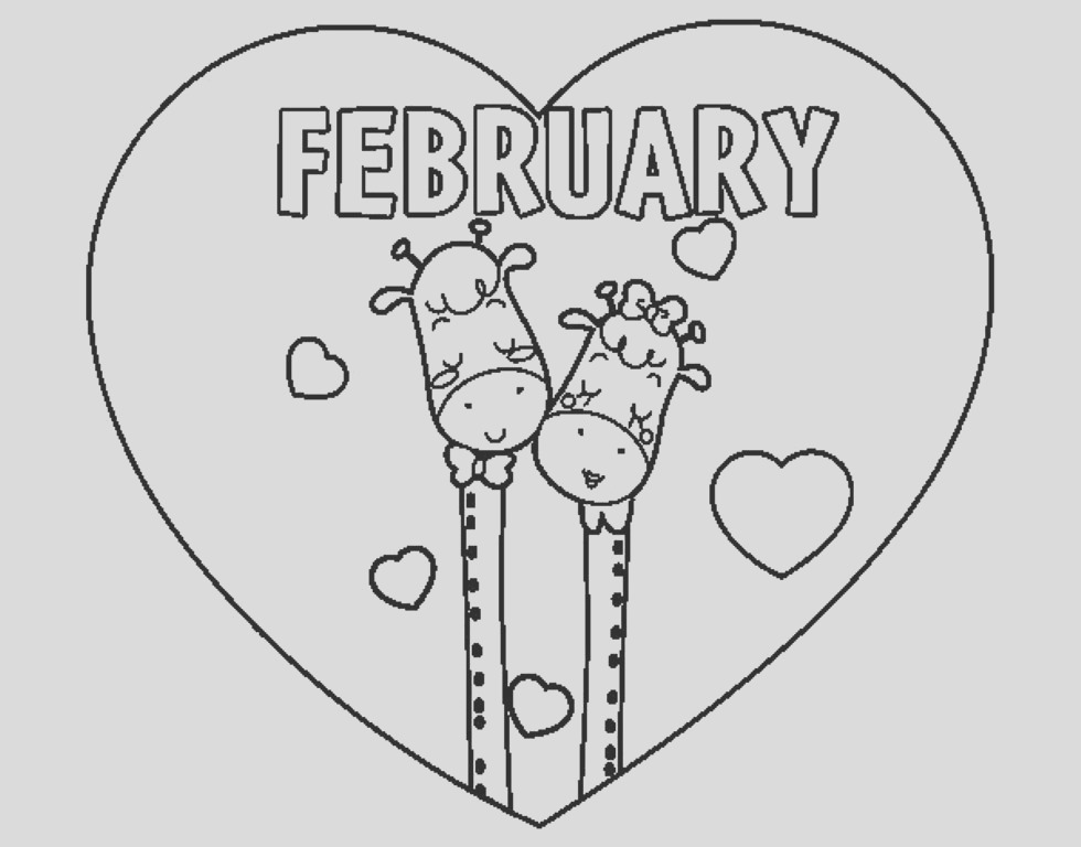 february coloring pages printable kids