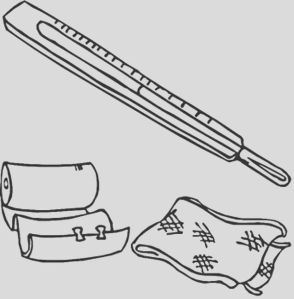 medical first aid package coloring page
