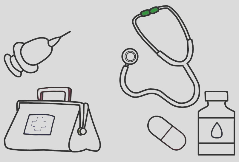 6 best high detailed medical kit first aids coloring sheet kids