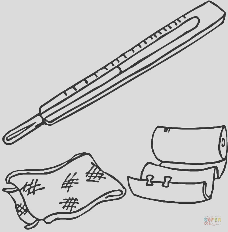 band aid coloring page