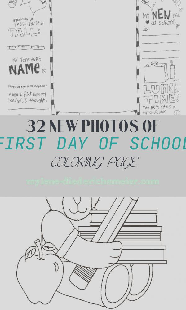 First Day Of School Coloring Page Lovely First Day Of School Coloring Page