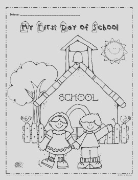 My First Day of School Coloring page FREEBIE