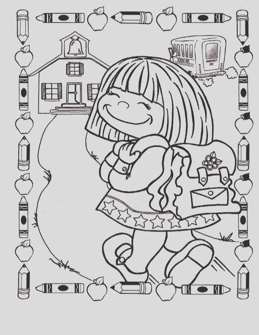 school coloring pages back to school