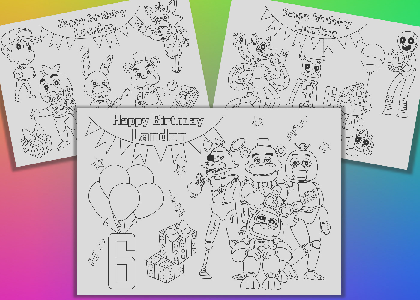 five nights at freddy birthday party