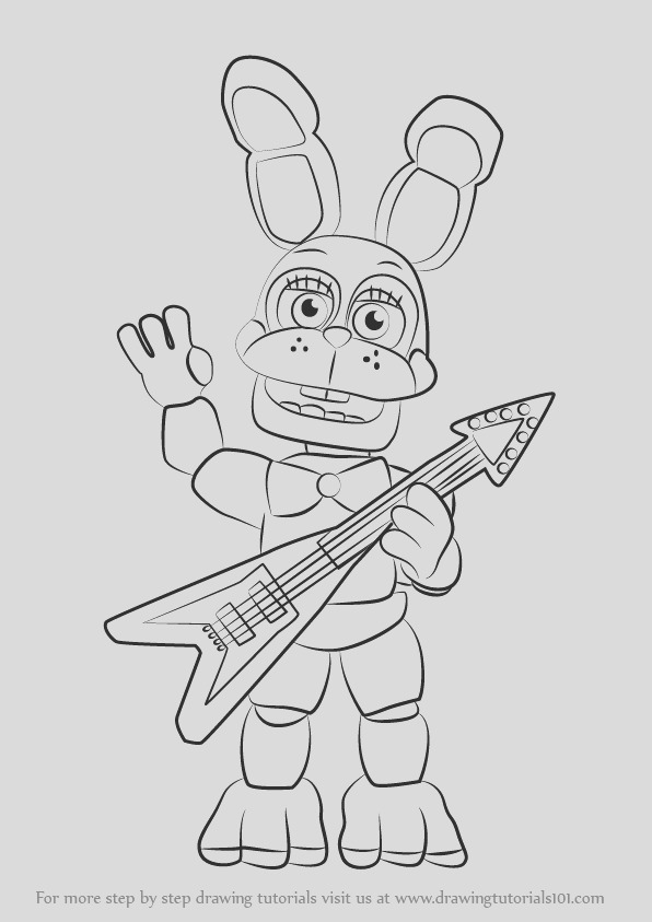 how to draw toy bonnie from five nights at freddys