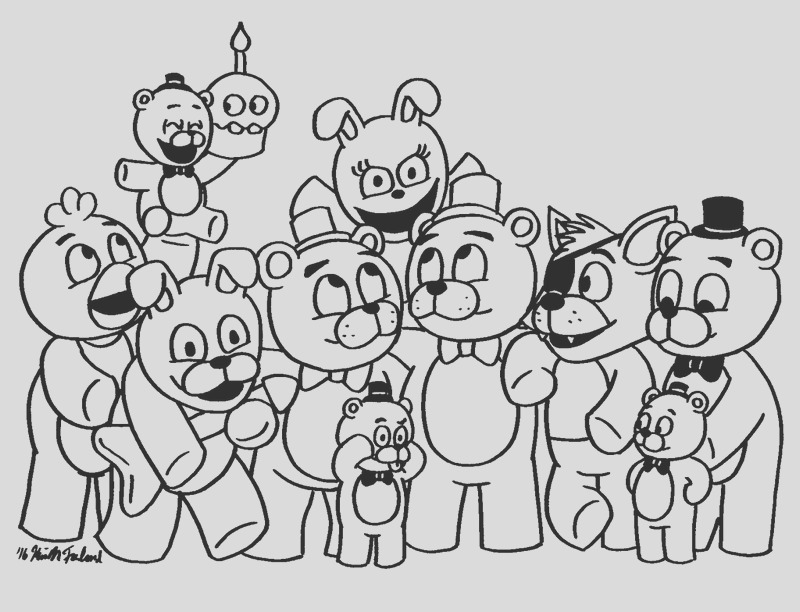 fnaf coloring pages fans five nights freddys