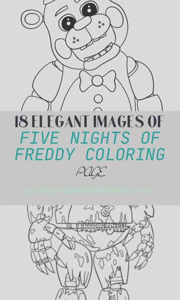 Five Nights Of Freddy Coloring Page Lovely Cute Five Nights at Freddy S Coloring Page