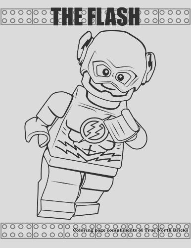 lego colouring page the flash