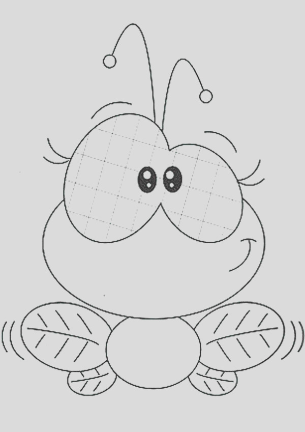 cute female fly coloring page