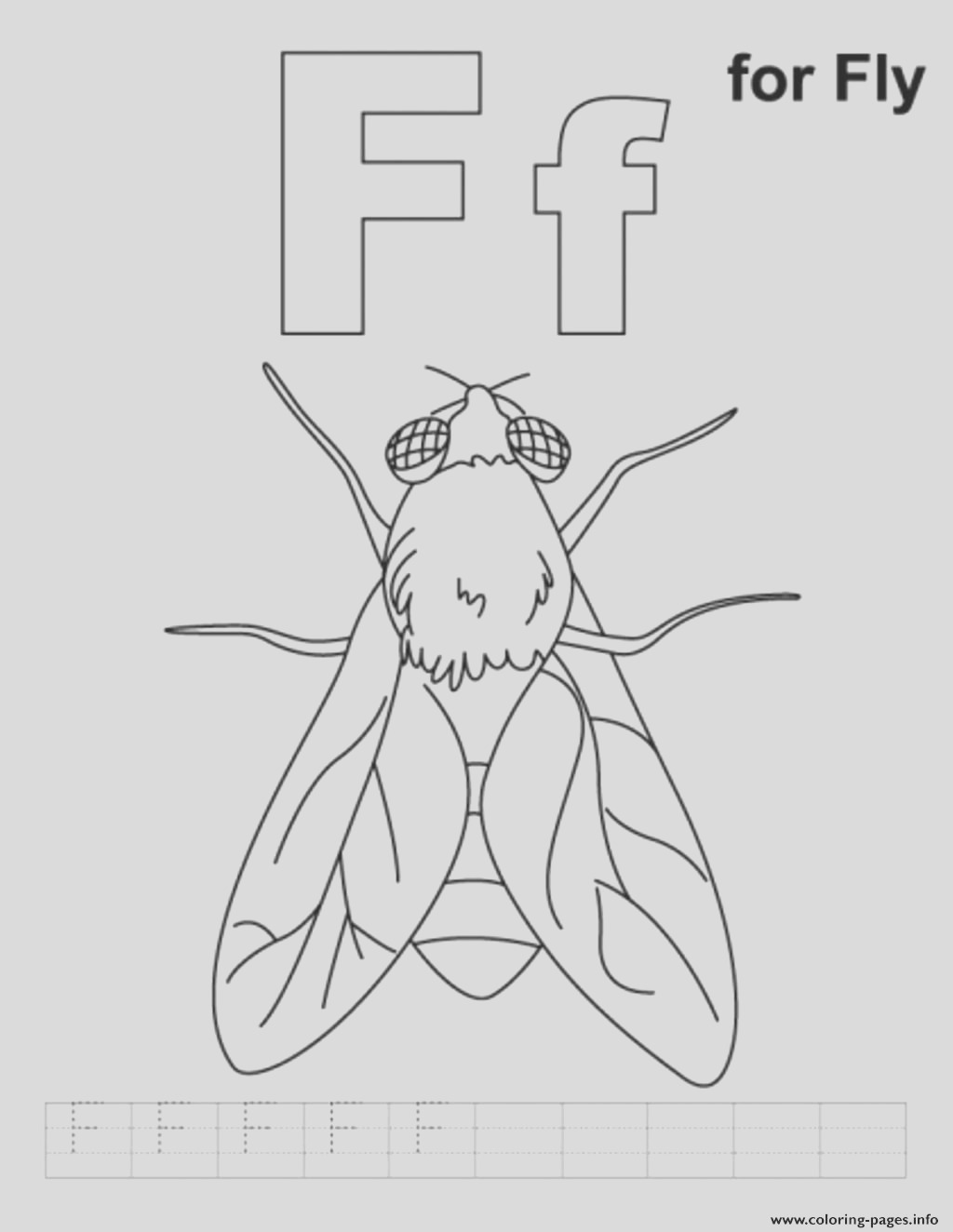 f for fly alphabet s freeee2f printable coloring pages book 5167