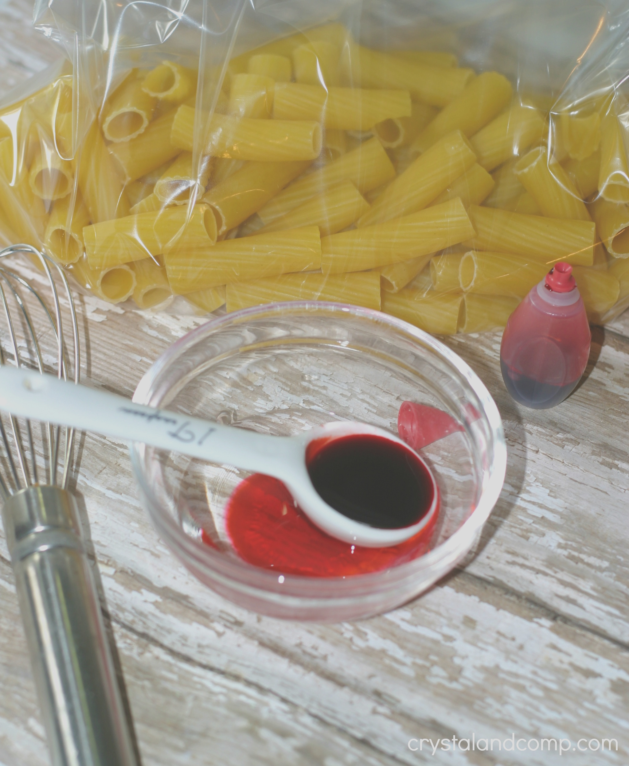 pasta crafts for kids how to dye pasta