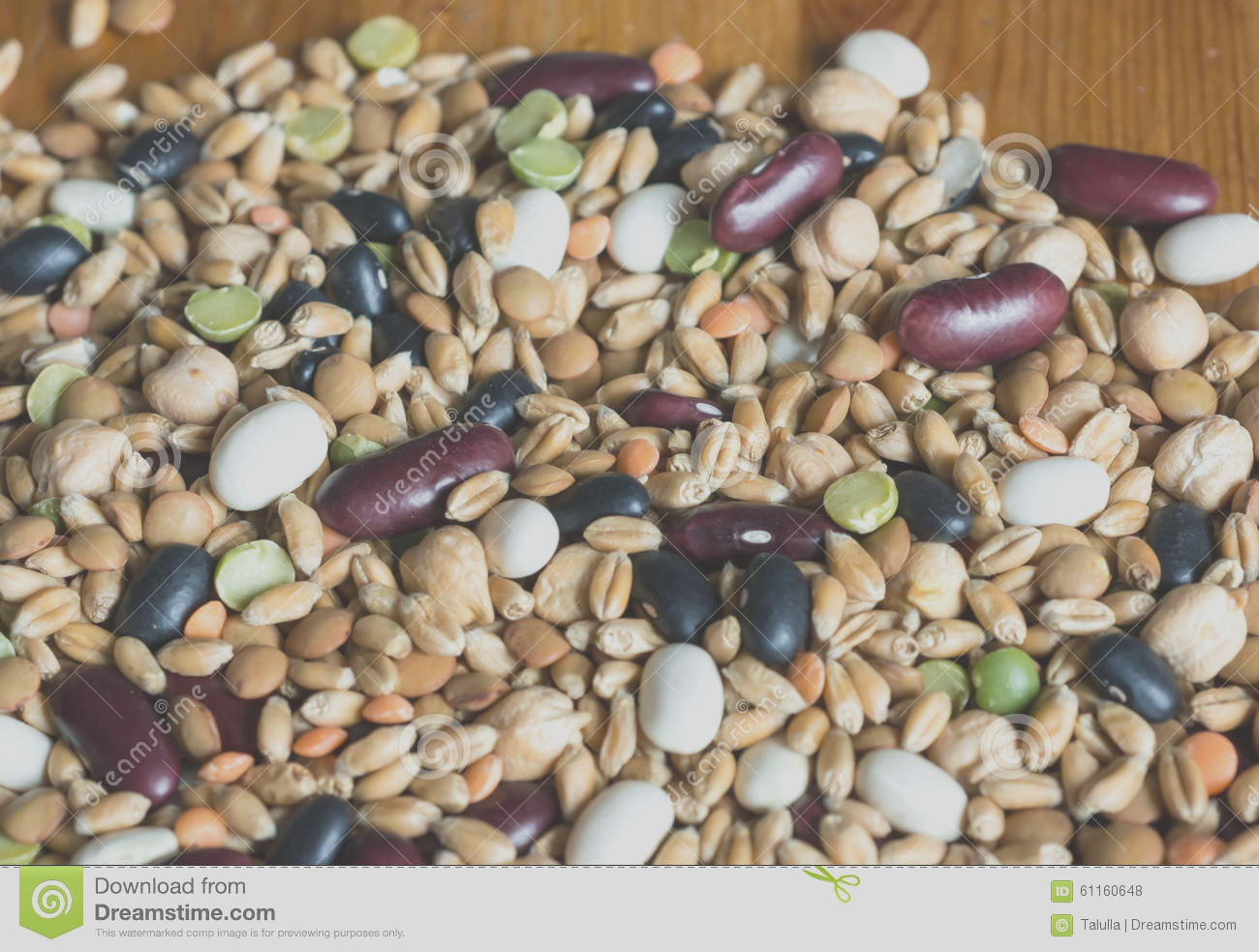 stock photo background mixtures different grains wooden image