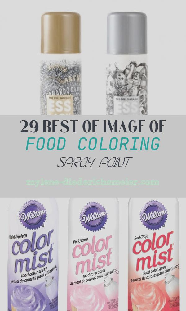Food Coloring Spray Paint Awesome World S First Edible Tasteless Food Coloring Spray Paint