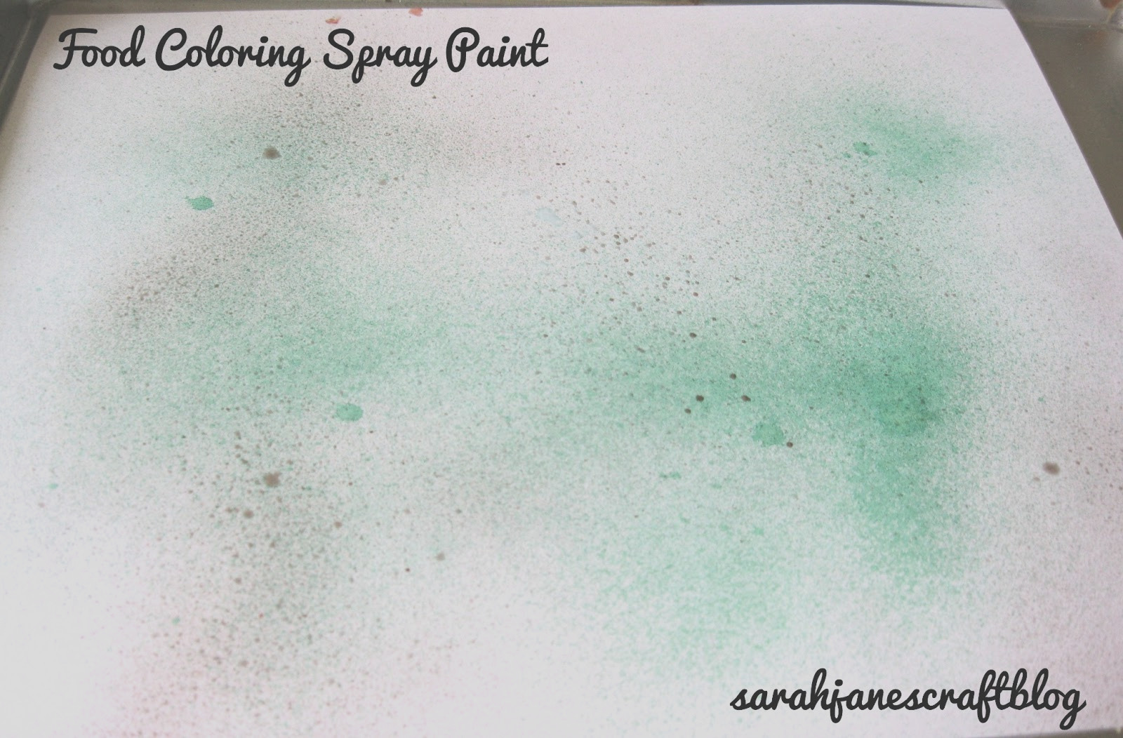 food coloring spray paint
