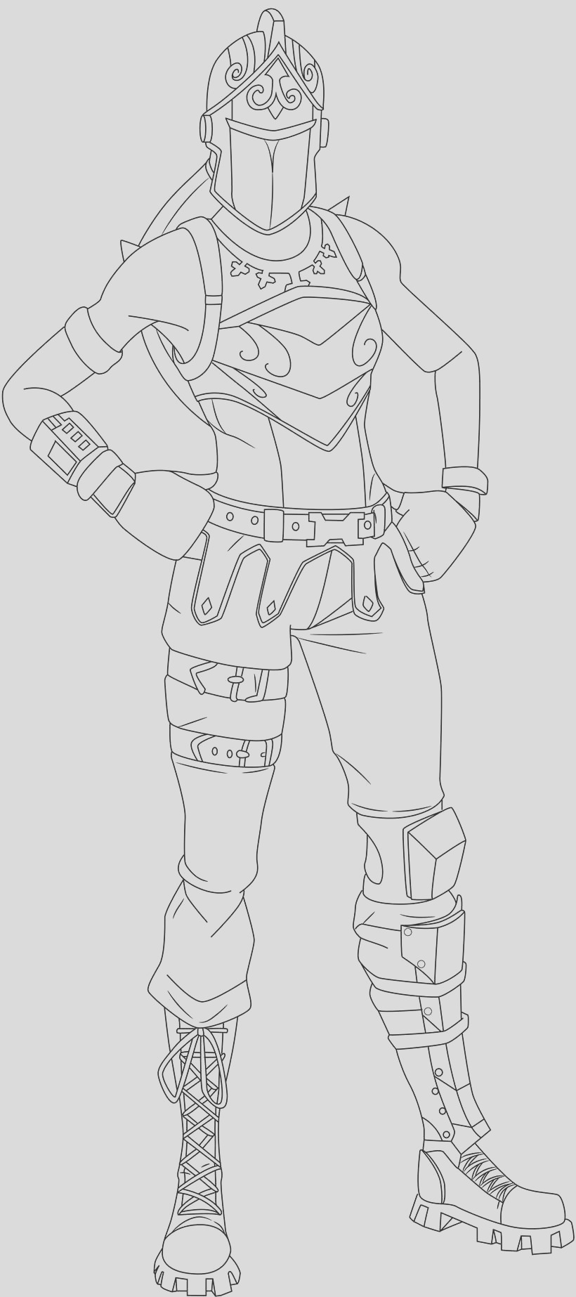 fortnite skin coloring pages red knight