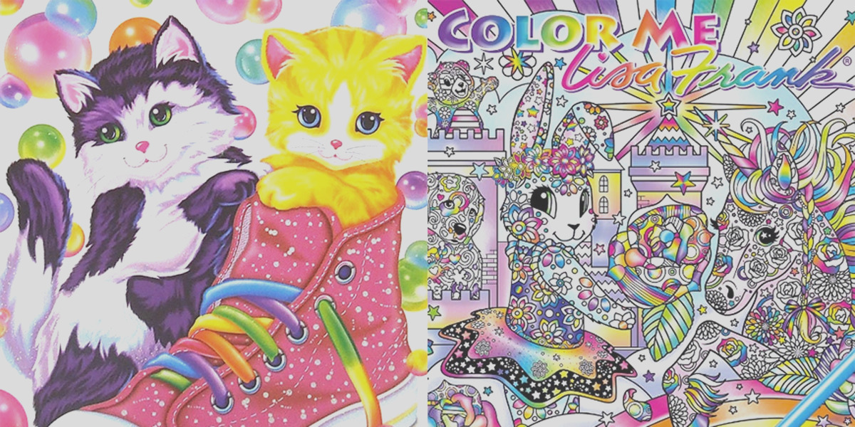 a lisa frank adult coloring book is ing and we are freaking out