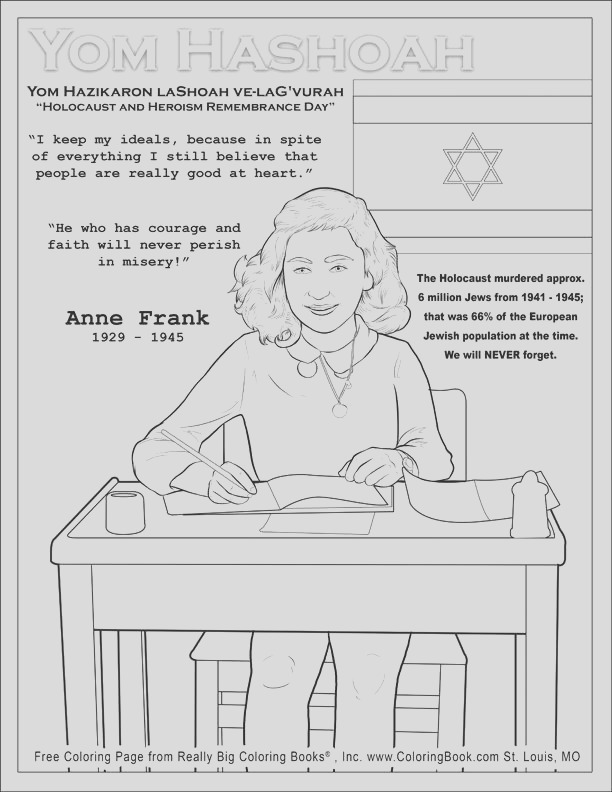 anne frank coloring page