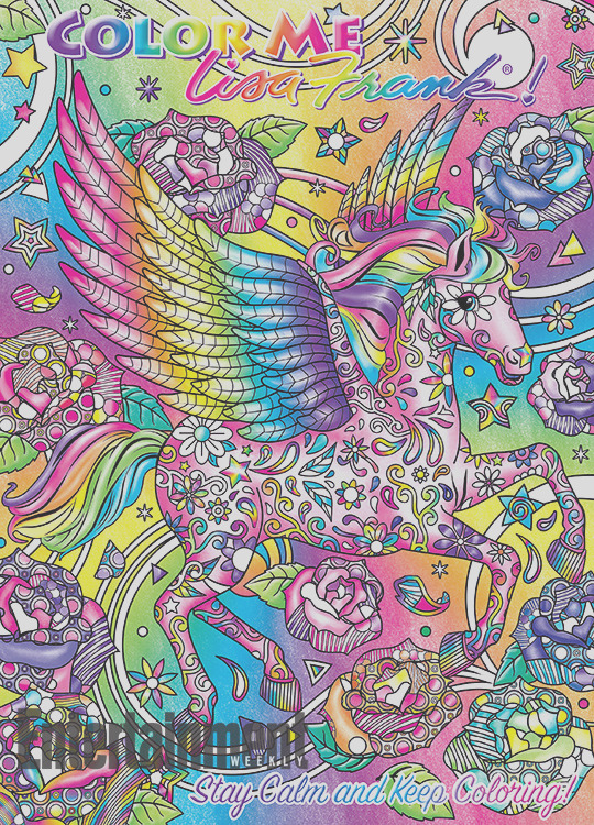 lisa frank coloring book covers