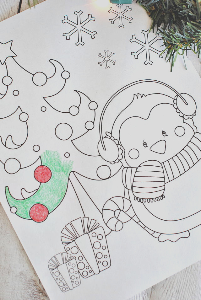 Christmas Coloring Pages Plus Printable Wall Art
