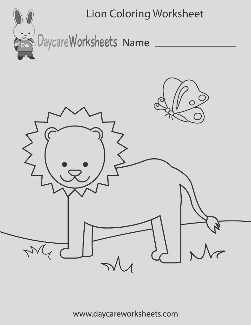 lion coloring worksheet