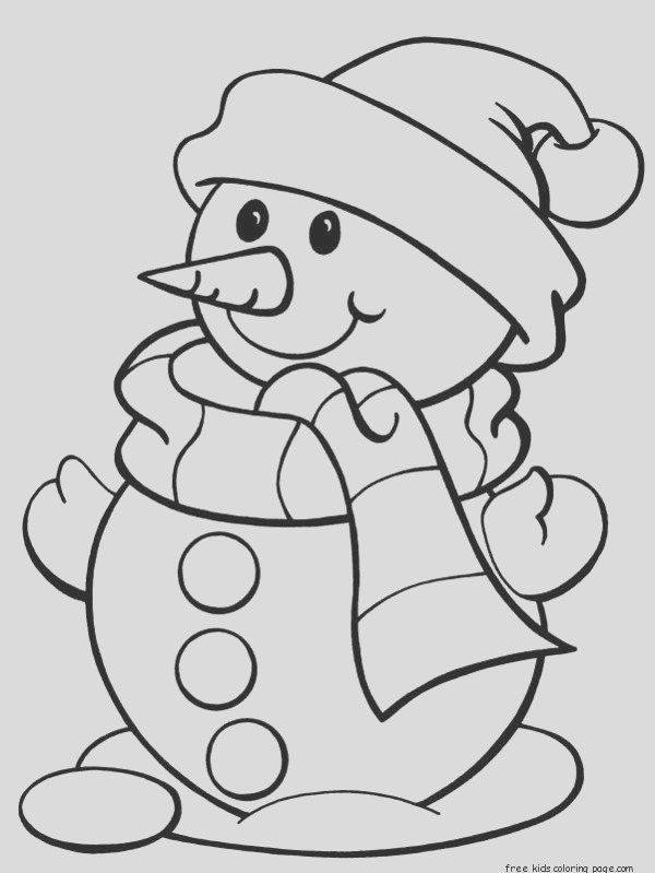 printable christmas snowman coloring pages