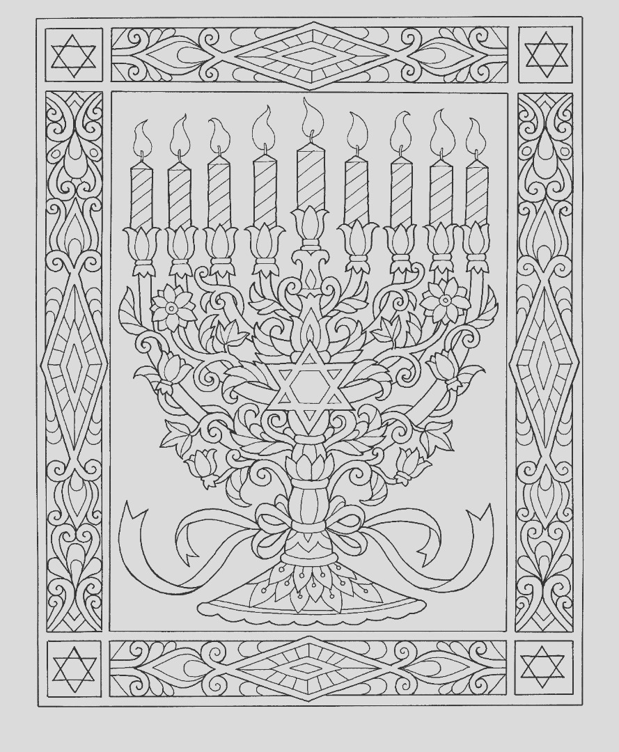 8 free hanukkah coloring pages drawings