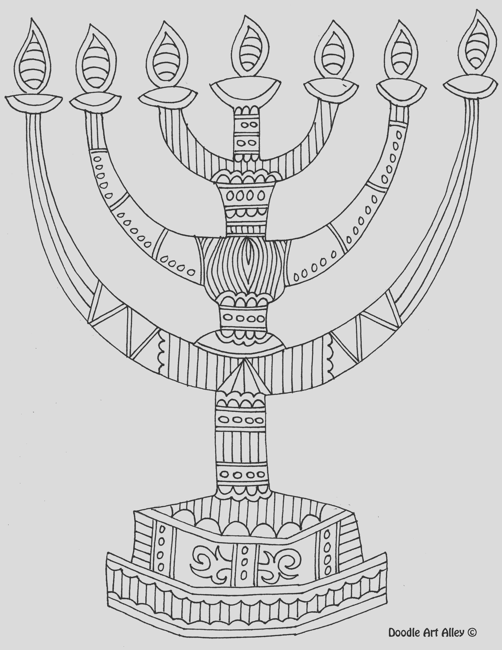 best hanukkah coloring pages free printables