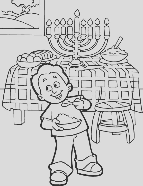 free printable hanukkah coloring pages kids