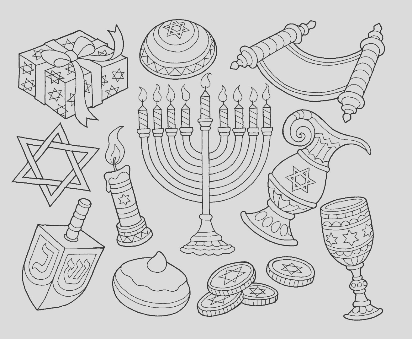8 free hanukkah coloring pages drawings ty