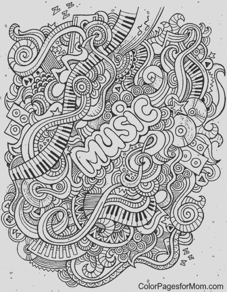 music coloring pages to print online