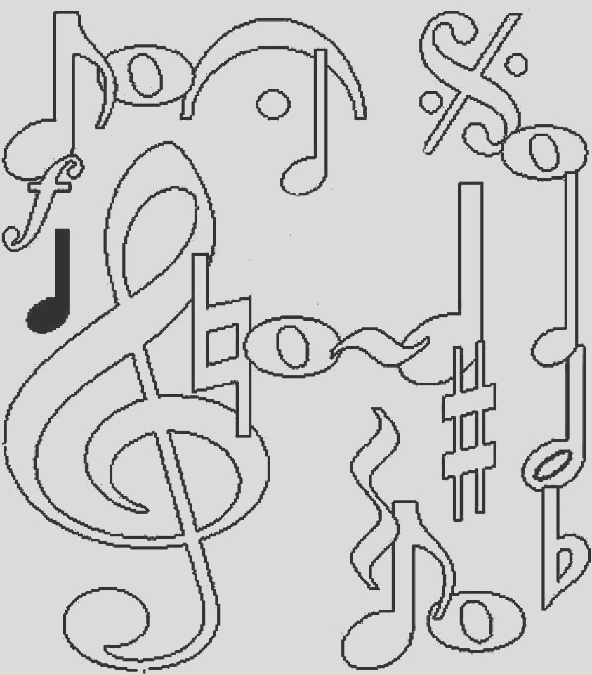 printable music coloring pages for kindergarten