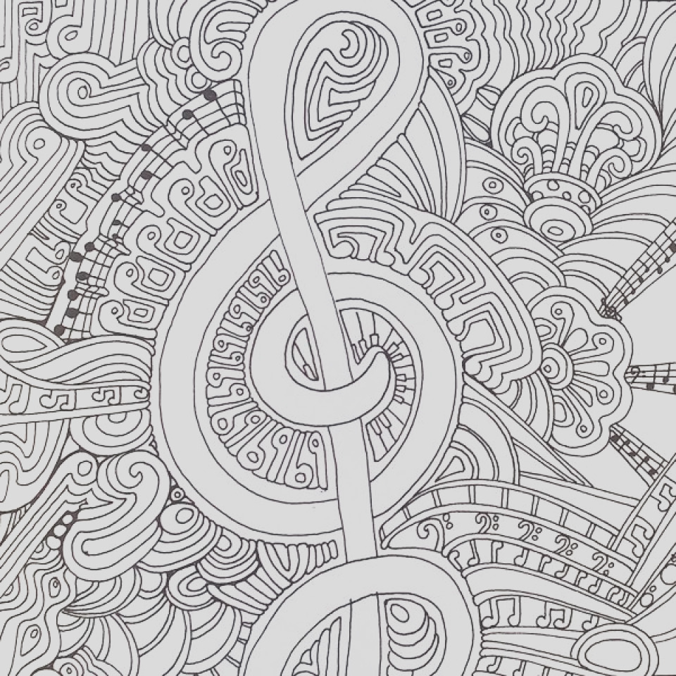 free music coloring pages for toddlers
