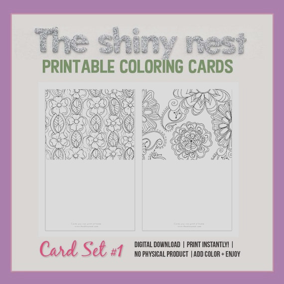 coloring cards printable note cards