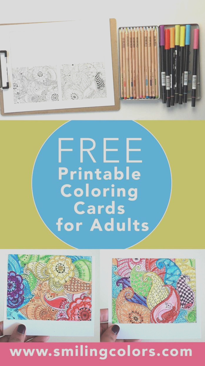 free printable coloring cards for adults