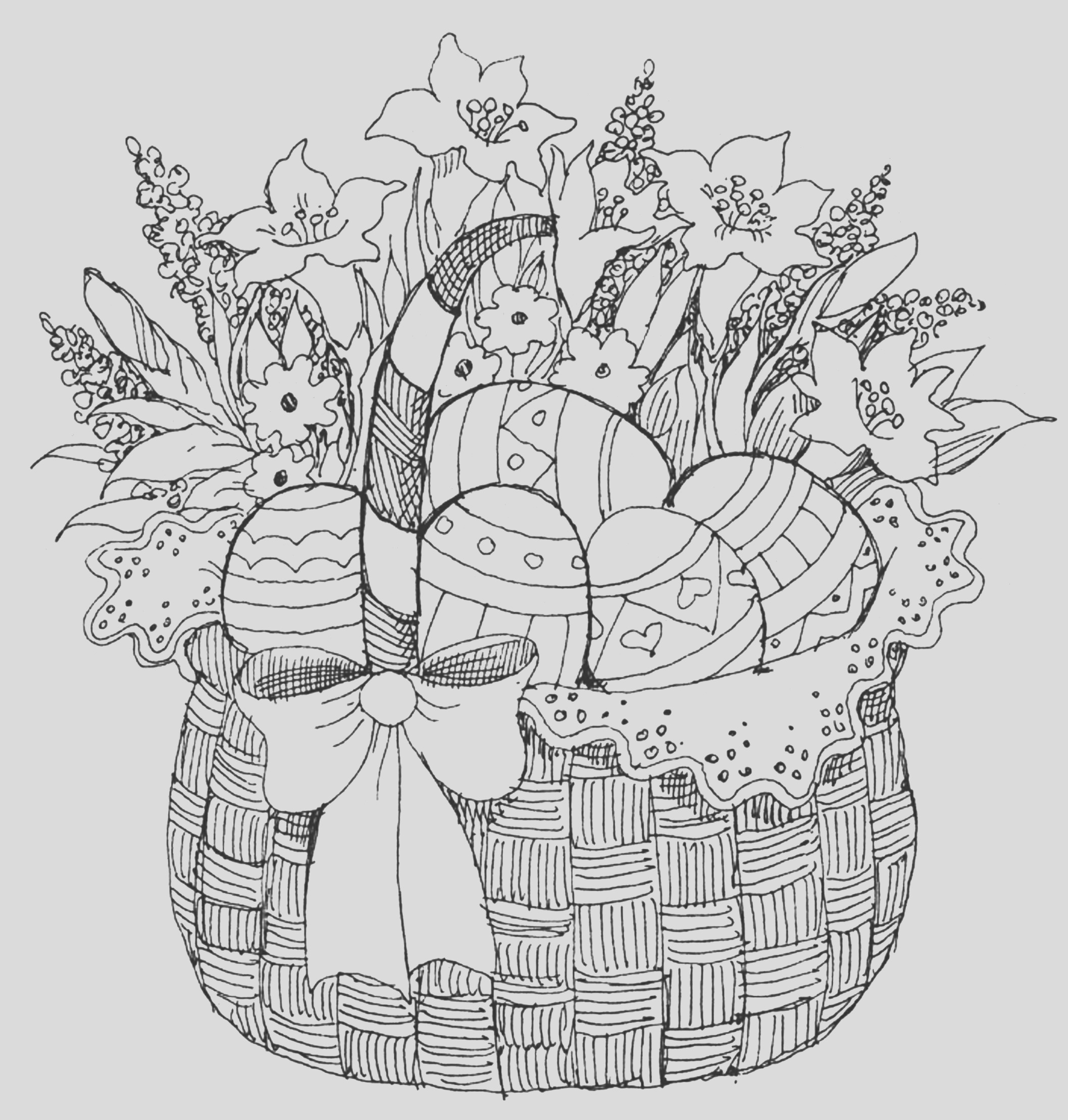 pinterest adult coloring pages easter sketch templates