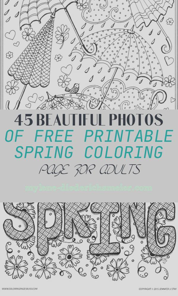 Free Printable Spring Coloring Page for Adults Inspirational Spring Rain Umbrellas Free Printable Coloring Page From