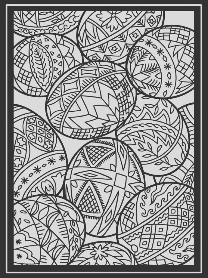 free printable easter egg coloring pages for adults