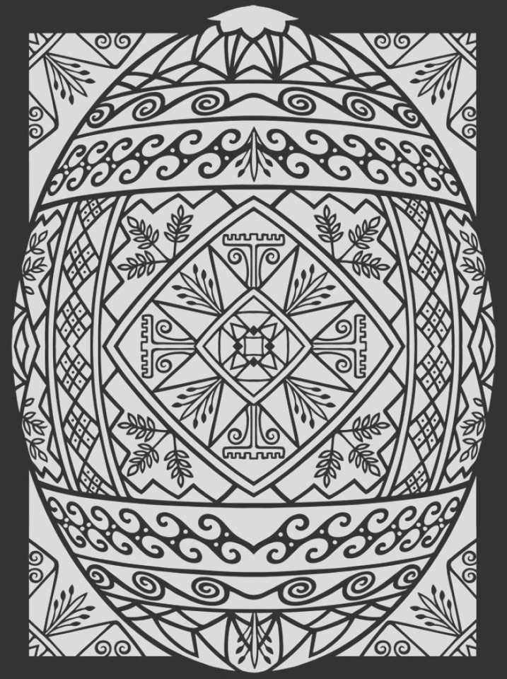 adults printable easter egg coloring pages