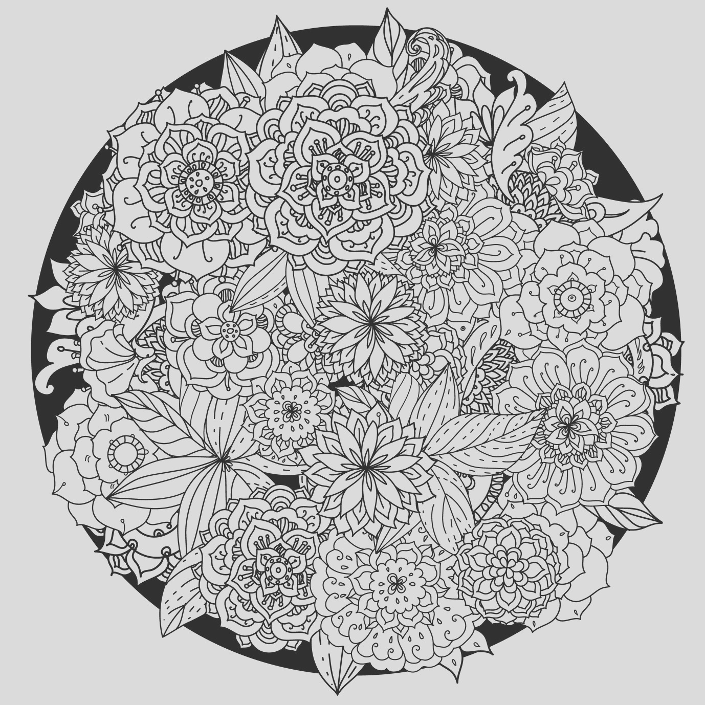 stress relieving coloring pages printable