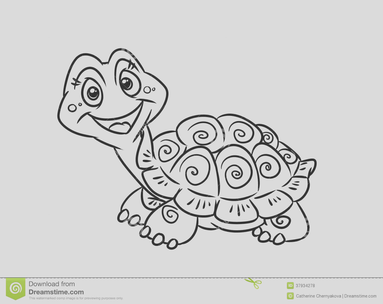 royalty free stock photos turtle fun coloring pages illustration contour image
