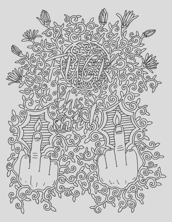 fuck this shit adult coloring page t