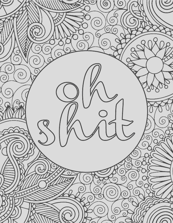 printable adult coloring book page oh