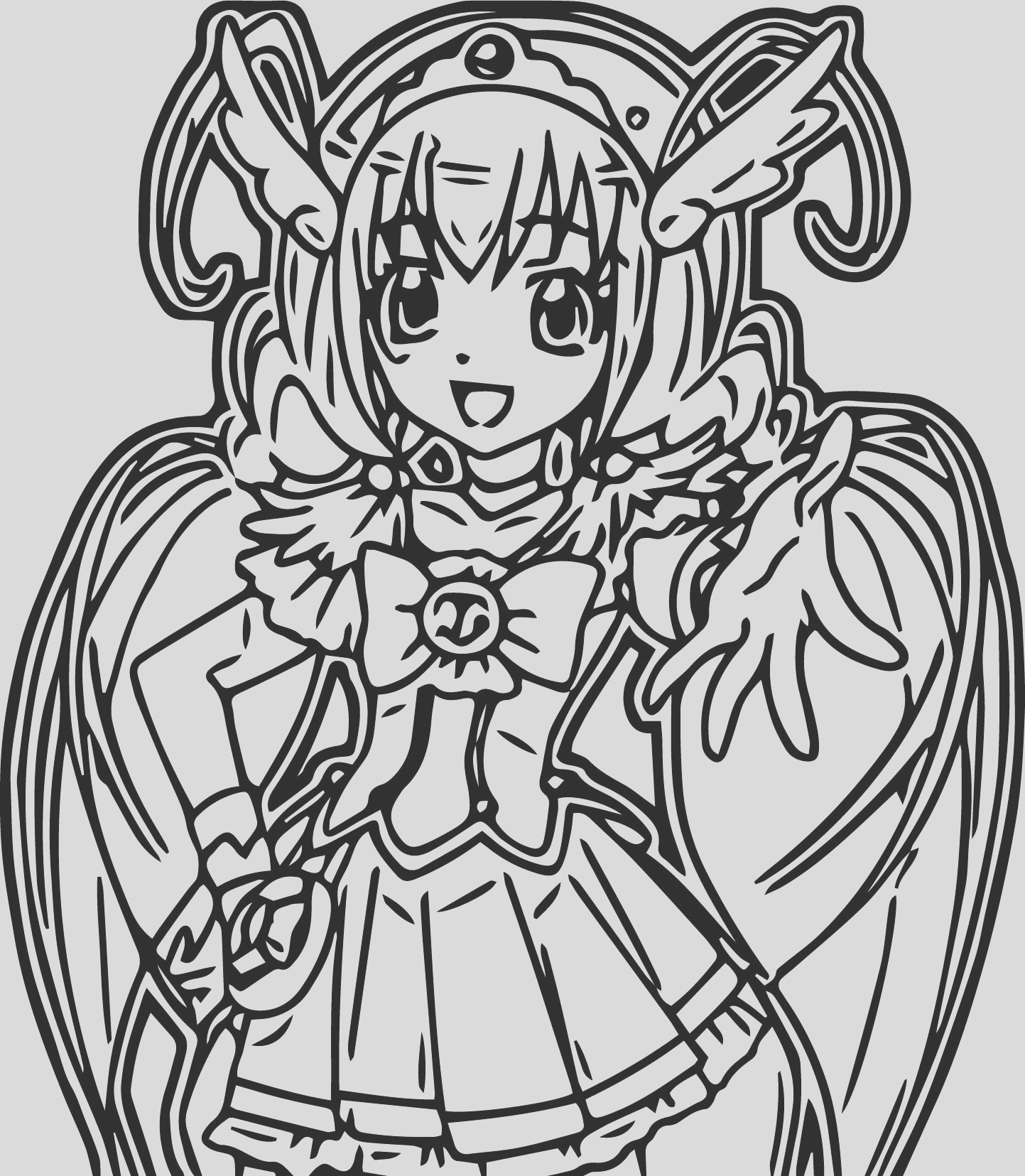 glitter force e coloring page