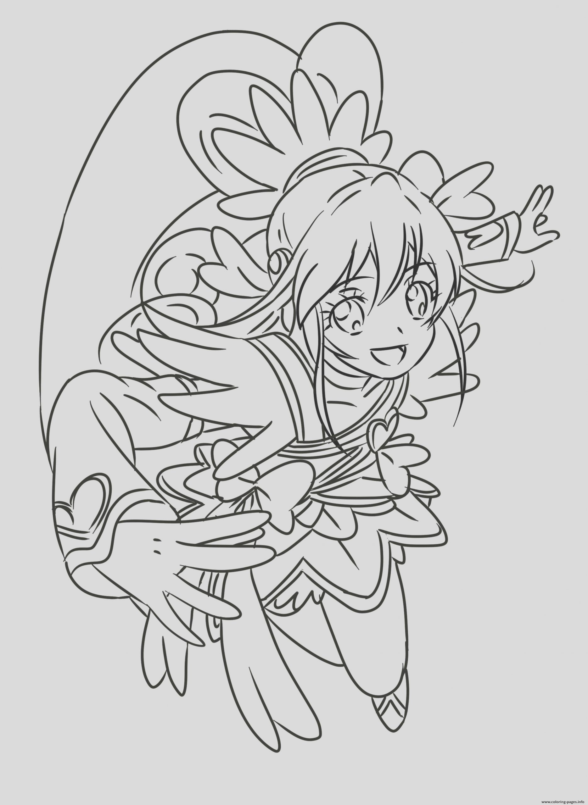 cure heart precure glitter force printable coloring pages book